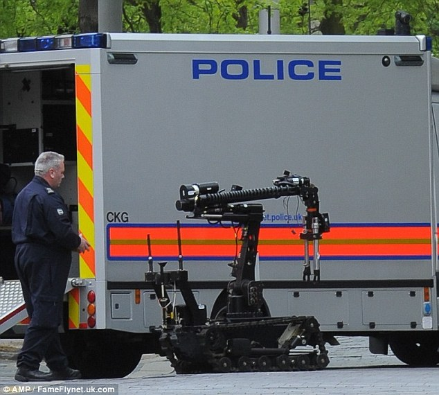 Police were called in to carry out two controlled explosions after a suspicious vehicle triggered a bomb scare at ITV studios