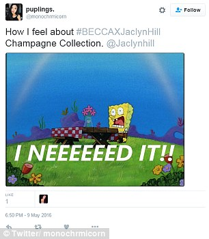 Meme-crazy: Just a small sample of some of the online reactions to the BECCAXJaclynHill collaboration