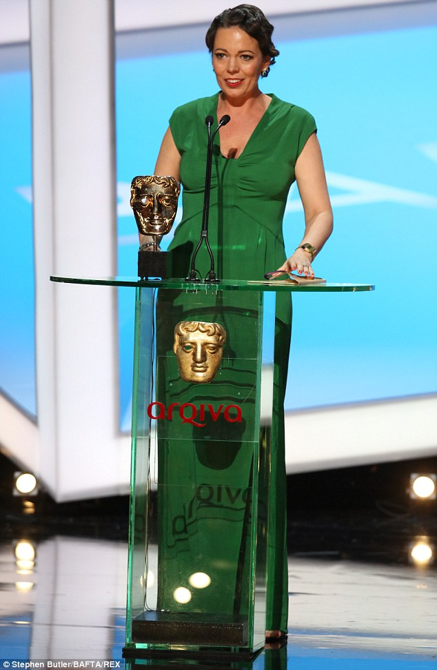 Gracious: Olivia thanked her fellow nominees and praised their work