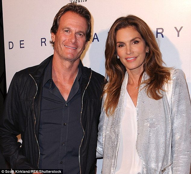 Keeper: In 1998, Cindy married fellow model and businessman Rande Gerber, pictured together in 2014