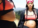 152931, EXCLUSIVE: A very pregnant Angela Simmons shows off her bump as she is spotted out for a walk with her fiance Sutton Sean Tennyson in LA. Angela was rumored to be pregnant but never denied nor confirmed. Los Angeles, California - Friday May 27, 2016. Photograph: © Sam Sharma, PacificCoastNews. Los Angeles Office: +1 310.822.0419 UK Office: +44 (0) 20 7421 6000 sales@pacificcoastnews.com FEE MUST BE AGREED PRIOR TO USAGE
