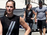 *EXCLUSIVE*  Beverly Hills, CA - Actress, Minka Kelly, used her hunky professional trainer as her weight resistance as she worked out behind her gym in Beverly Hills.  The petite actress was seen pulling her muscular trainer on a rope as she ran at full speed ahead with him attached to her every move.  It's no wonder 'The Path' actress is known as much for her incredible physique as her acting chops.\nAKM-GSI     May 26, 2016\nTo License These Photos, Please Contact :\nSteve Ginsburg\n(310) 505-8447\n(323) 423-9397\nsteve@akmgsi.com\nsales@akmgsi.com\nor\nMaria Buda\n(917) 242-1505\nmbuda@akmgsi.com\nginsburgspalyinc@gmail.com