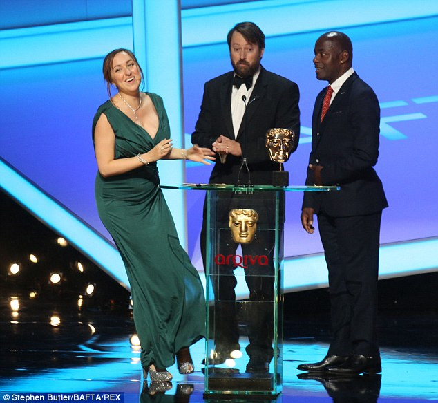 Jokers: Peep Show's David Mitchel and Paterson Joseph present Him and Her: The Wedding with the Best Situation Comedy Award