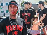 Picture Shows: Tyga  May 27, 2016    Rapper Tyga meets with Scott Disick  for Scott's birthday at Il Pastaio in Beverly Hills, California.  The two were all smiles while they celebrated Scott's birthday.    Non Exclusive  UK RIGHTS ONLY    Pictures by : FameFlynet UK © 2016  Tel : +44 (0)20 3551 5049  Email : info@fameflynet.uk.com