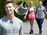*EXCLUSIVE* Santa Monica, CA - Patrick Schwarzenegger and Abby Champion work up a sweat together during a stair climbing workout in Santa Monica. After working up a sweat, the two head to lunch in Brentwood together, Patrick rode his bicycle while Champion drove his Audi to meet.\n \n AKM-GSI May 27, 2016\nTo License These Photos, Please Contact :\nSteve Ginsburg\n(310) 505-8447\n(323) 423-9397\nsteve@akmgsi.com\nsales@akmgsi.com\nor\nMaria Buda\n(917) 242-1505\nmbuda@akmgsi.com\nginsburgspalyinc@gmail.com