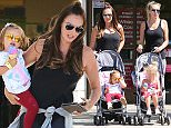 Heiresses Petra Stunt (born Ecclestone) and Tamara Ecclestone take their daughters to the Calabasas mall. The daughters, Lavinia Stunt and Sophia Ecclestone, enjoy ice cream from Rite Aid. The two sisters are dressed nearly identical in black tank tops. Friday, May 27, 2016 X17online.com