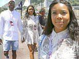 Dwyane Wade (NBA player), Gabrielle Union visiting the paddock at Grand Prix of Monaco, Monaco on may 28th, 2016.