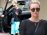 Reseda, CA - A makeup free Kaley Cuoco wears blue baggy britches to run some errands on Sunday morning in Reseda, California. The Big Bang Theory actress wore blue baggy cut off sweat pants and flip flops with a black long sleeved shirt and shades as she stepped out alone without her new boyfriend Karl Cook.\nAKM-GSI   May 29, 2016\nTo License These Photos, Please Contact :\nMaria Buda\n(917) 242-1505\nmbuda@akmgsi.com\nsales@akmgsi.com\nor \nMark Satter\n(317) 691-9592\nmsatter@akmgsi.com\nsales@akmgsi.com