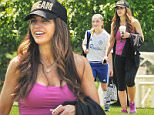 05/30/2016\nEXCLUSIVE: Teresa Giudice spotted this weekend looking fit and sporting lighter brown locks. The Real Housewife of NJ star look time from her busy schedule to attend daughter Gabriella's traveling soccer tournament in Pennsylvania. The embattled reality TV star blended in with the other parents sporting workout attire consisting of black capris and a magenta form fitting tank top. Teresa completed the look with a black trucker hat with the word DREAM embroidered in gold lettering. \nPlease byline:TheImageDirect.com\n*EXCLUSIVE PLEASE EMAIL sales@theimagedirect.com FOR FEES BEFORE USE