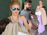 EXCLUSIVE ALL ROUNDER Shakira and Gerard Pique are seen  returning to Barcelona with their sons Milan and Sacha\n28 May 2016.\nPlease byline: G Tres/Vantagenews.com