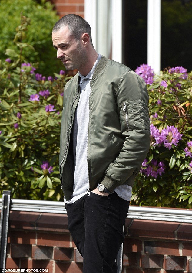 Stylish: Another former Coronation Street star was present in the form of Sean Ward