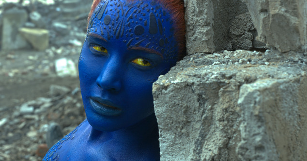 "In this image released by Twentieth Century Fox, Mystique, portrayed by Jennifer Lawrence, appears in a scene from, ""X-Men: Apocalypse."" (Twentieth Century F..."