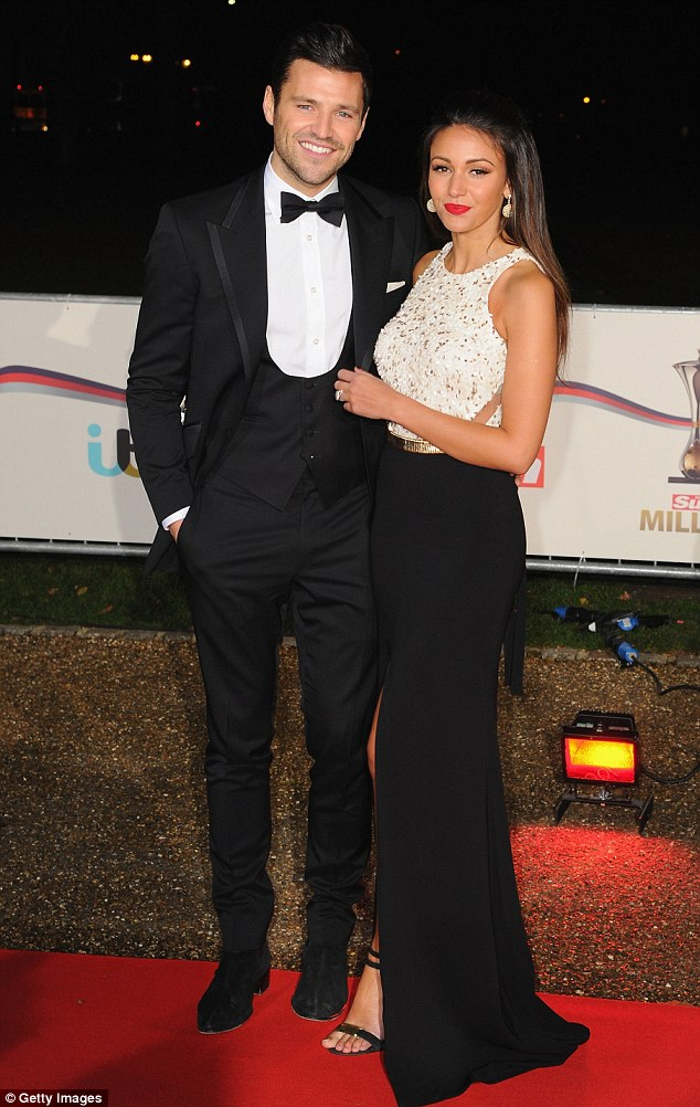 Real life love: Michelle signed up to the second series of the show just weeks after tying the knot with Mark Wright