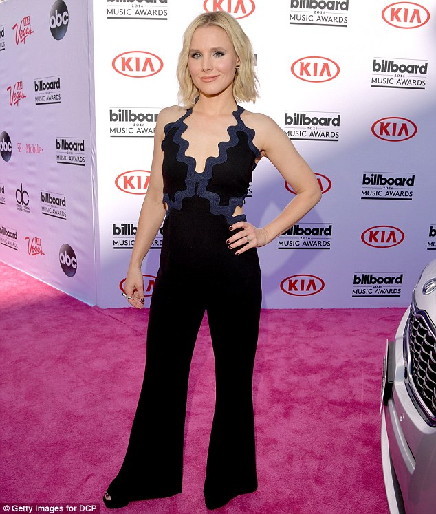 Not set in ice: Kristen Bell, who voices Princess Anna, was also at the awards. The 35-year-old revealed in March that Disney was still tinkering with Frozen 2's script but that she was due in the studio to start recording