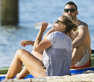 She made sure to stay hydrated and sipped on a water bottle