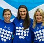 All smiles: Libby Clegg (left), Sarah Warnock (middle) and Frania Gillen-Buchert (right) after being named in Team Scotland
