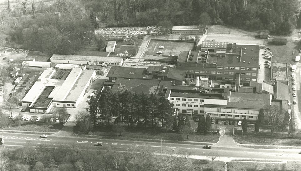 Pictured: An aerial shot of the Denham site in Buckinghamshire, which for decades was one of the homes of British and Hollywood cinema