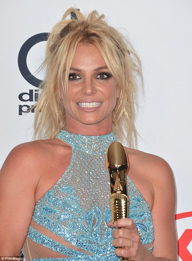 She's so lucky! Britney's make-up only needed minimal touch-ups throughout her many outfit changes