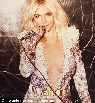 She's so lucky, she's a star: Britney and Melanie have worked together in the past, including her promo for her Vegas tour (right)