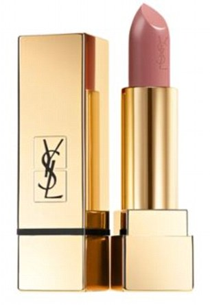 YSL Rouge Pur Couture Satin Radiance Lipstick in Beige Tribute ($37, yslbeautyus.com)