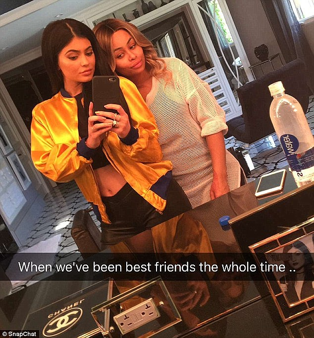 'My lil sis': The 18-year-old reality star and pregnant 27-year-old spent the day together at Kylie's house, and naturally made sure to document the whole thing on Snapchat