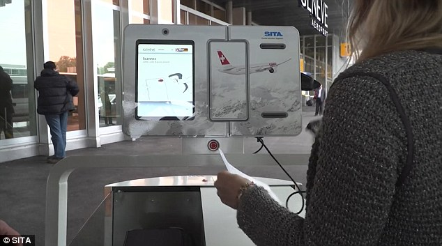 Above, a close up of the user interface. You will be given a receipt for your bag and the compartment will be secured after the drop off is complete