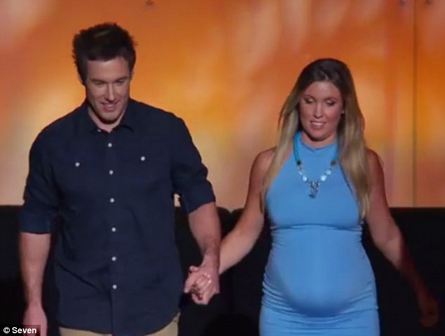Soon to be parents: Jackie and Tim were revealed to be expecting their first child together