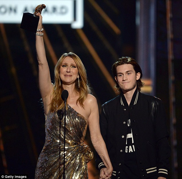 Surprise! The teen was at the event to present  his famous mother with Billboard's Icon Award