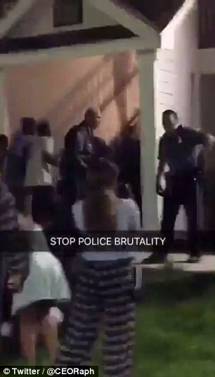 A number of students took to Twitter to post about the ruckus that happened when cops arrived on scene