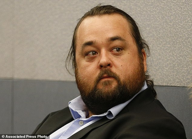 Austin Lee Russell, better known as Chumlee from the TV series Pawn Stars, appears in court in Las Vegas. Russell  intends to plead guilty in state court to felony weapon and misdemeanor attempted drug possession