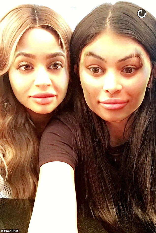 Tyga is not the only thing they have in common: Kylie and Chyna are both social media fanatics, and decided to do a face swap on Snapchat
