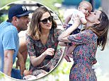 Rose Byrne and husband Bobby Cannavale take their son 'Rocco' to the park in NYC