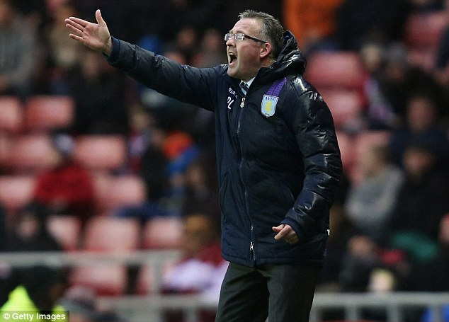 Handy: Villa's victory eases the pressure on manager Paul Lambert whose side had not won in six matches