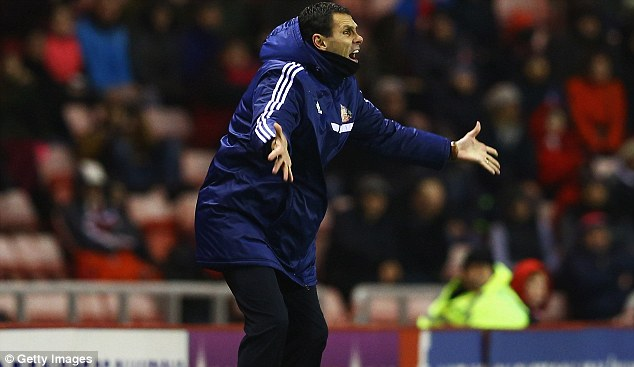 Bottom: The defeat leaves Gus Poyet's side propping up the Premier League table