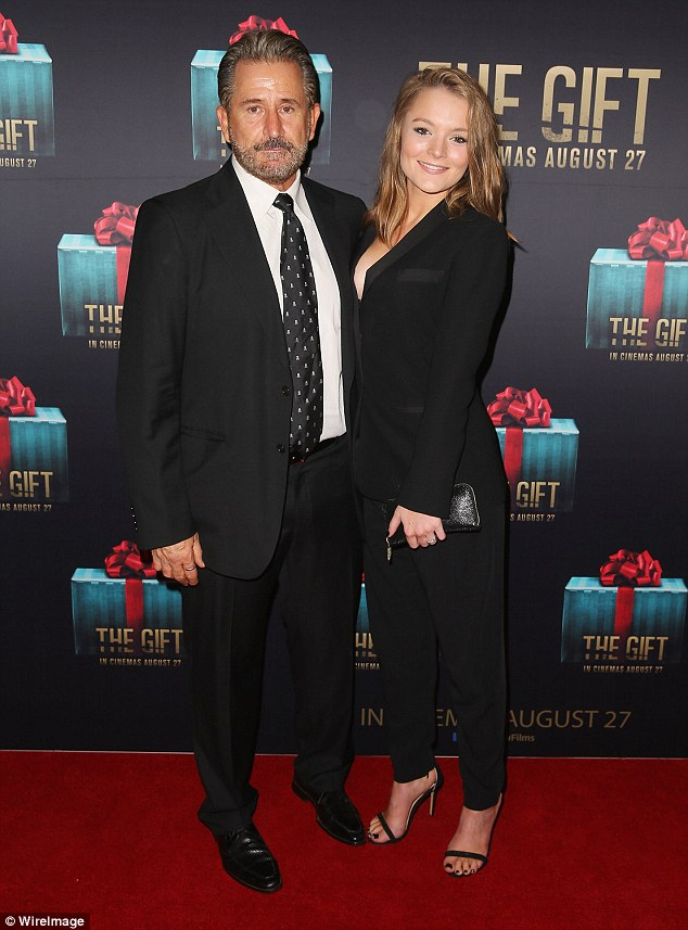 Age-gap romance! LaPaglia (L) and Carides were married for 17 years before he filed for divorce in March last year - and the Without A Trace star, 57, subsequently began dating younger girlfriend Alexandra Henkel, 26 (R)