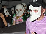 May 31, 2016: Madonna and her kids Rocco Ritchie and Lourdes Leon are seen going into a broadway show to see Sleep No More in Dowtown New York City wearing masks.\nMandatory Credit: Elder Ordonez/INFphoto.com Ref: infusny-160