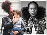 PARIS, FRANCE - MAY 31:  Singer Alicia Keys and her son Genesis Ali Dean arrive at Charles-de-Gaulle airport on May 31, 2016 in Paris, France.  (Photo by Marc Piasecki/GC Images)