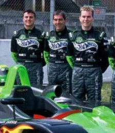 Le Mans drivers. Pictured L-R: Mark Blundell, Julian Bailey, Kevin McGarrity