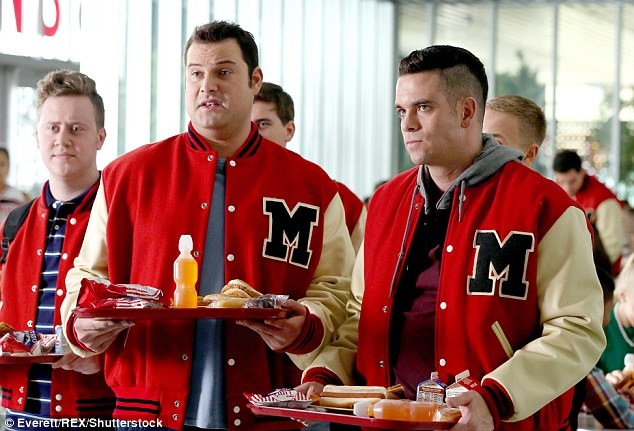 Popular show: Salling is best known for playing Noah 'Puck' Puckerman on Glee