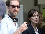 Director John Carney and Keira Knightley\non the set of their new movie 'Can A Song Save Your Life?'\nNew York City, USA - 12.07.12\nMandatory Credit: Mr. Blue/WENN.com