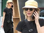 Picture Shows: Meg Ryan  May 31, 2016\n \n Actress Meg Ryan was spotted out shopping in New York, New York. She was wearing a black tee shirt, black pants and a straw hat.\n \n UK RIGHTS ONLY\n \n Pictures by : FameFlynet UK © 2016\n Tel : +44 (0)20 3551 5049\n Email : info@fameflynet.uk.com