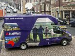 Money Mail- The Bank on Wheels by Nat West . Here, parked up in the High street in Arundel, West Sussex  ***Pic by David McHugh 07768 721637***