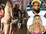 """31.May.2016 - Hidden Hills - USA\n*PREMIUM EXCLUSIVE* **MUST CALL FOR PRICING** \n*** STRICTLY AVAILABLE FOR UK AND GERMANY USE ONLY ***\nHidden Hills, CA - Forget about James Harden and Lamar ... seems like Khloe Kardashian has already moved on to her next baller -- NFL superstar Odell Beckham Jr. TMZ Sports obtained pics of the two getting super close at Drake's pool party in Hidden Hills on Memorial Day ... with Khloe droppin' her big ol' butt right on top of the NY Giants superstar. The pics were taken around midnight -- and our sources inside the party tell us KK and OBJ were """"definitely into each other"""" and """"looked like a couple."""" By the way, in case there was any doubt the woman in the pics is Khloe -- we found video of KK wearing the same exact dress and Yeezy shoes at a different pool party earlier that day.\nBYLINE MUST READ : TMZ/AKM-GSI\n***UK CLIENTS - PICTURES CONTAINING CHILDREN PLEASE PIXELATE FACE PRIOR TO PUBLICATION ***\n*UK CLIENTS MUST CALL PRIOR TO TV OR ONLINE U"""