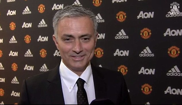 The 53-year-old Portuguese manager was officially confirmed as Manchester United manager on Friday