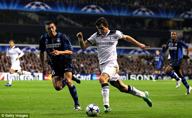 While playing for Tottenham in 2010, Bale scored a hat-trick against Inter Milan at the San Siro