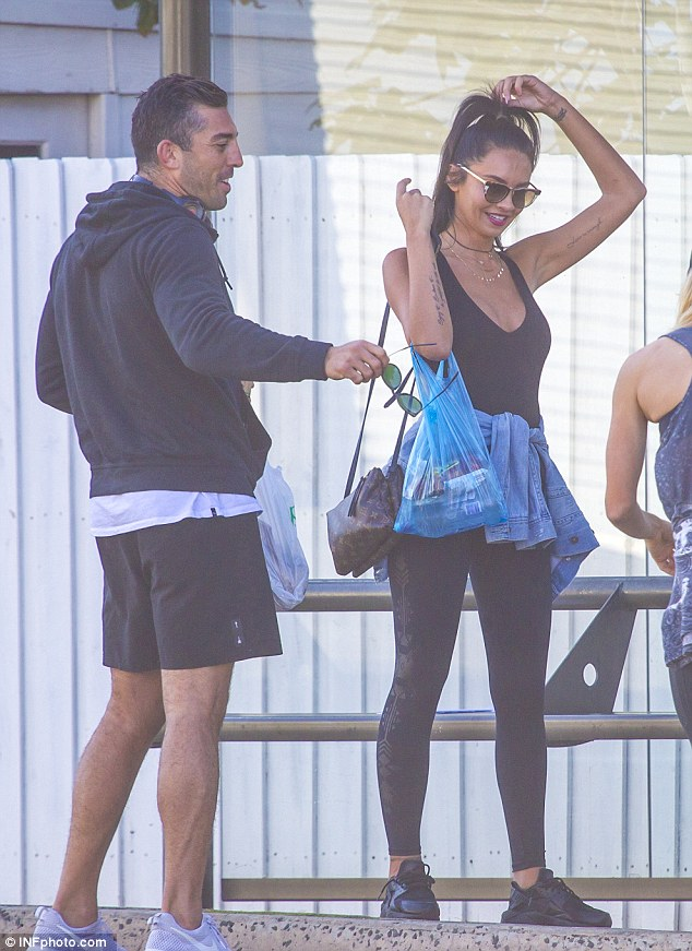 Lunch date: Braith Anasta enjoyed a lively outing in Bondi with personal trainer Rachael Lee on Saturday, adding fuel to the rumours the two are dating