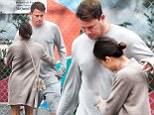 Jenna Dewan Tatum is seen playfully pinching husband Channing Tatum's belly fat