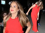 VICKY PATTISON SEEN LEAVING THE UP LATE WITH RYLAN SHOW IN LONDON. WEDNESDAY 1ST JUNE 2016 - MAGICMOMENTSUK - 07753 30 30 77
