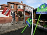 A man erecting 'for sale' signs in Whitley Bay, Tyne and Wear.   File photo dated 09/04/2008 PRESS ASSOCIATION Photo. Issue date: Tuesday November 15, 2011. House prices dipped by 0.7% in September, the sixth month in a row to show a year-on-year drop, official figures showed today. The typical UK house sold for £207,326 the Department for Communities and Local Government (CLG) said, a figure which has not been seasonally adjusted. See PA story ECONOMY House. Photo credit should read: Owen Humphreys/PA Wire