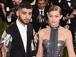 Mandatory Credit: Photo by David Fisher/REX/Shutterstock (5669034fu) Zayn Malik and Gigi Hadid The Metropolitan Museum of Art's COSTUME INSTITUTE Benefit Celebrating the Opening of Manus x Machina: Fashion in an Age of Technology, Arrivals, The Metropolitan Museum of Art, NYC, New York, America - 02 May 2016